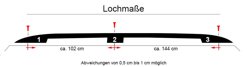 Dachreling VW T6 // 6.1 LWB ab Bj 2015Lang Ver.Alu schwarzNEU